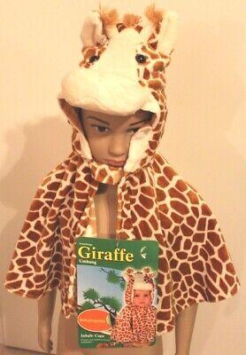Giraffe mit Kopf Umhang Kleinkinder Baby´s Kostüm Karneval, Fasching