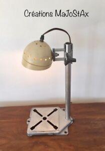 Lampe art récup, lampe industriel, lampe unique, lampe rétro,