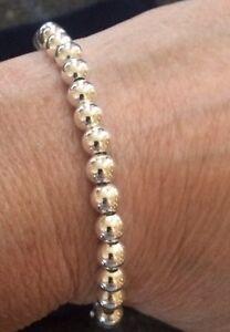 925 Silver Bead Bracelet