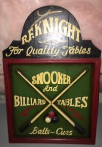 BILLIARD/POOL/SNOOKER WOOD SIGN - GREAT FOR MANCAVE!