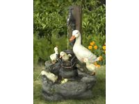 Duck Family at Tap Water Feature with LED lighting Fountain