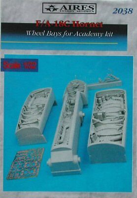 Aires 1/32 F/A-18C Hornet Wheel Bays for Academy kit 2038/*