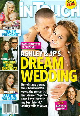 2012 In Touch Magazine: Bachelorette Exclusive: Ashley and Jp's Dream Wedding