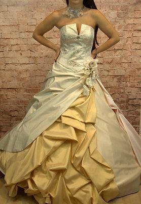 Hochzeitskleid Brautkleid Hochzeit Braut Sissi Sissikleid Größe 38/40 neu beige online kaufen