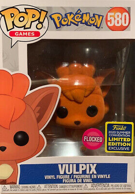 Funko Pop! Pokemon Vulpix Flocked SDCC 2020 Shared Exclusive - On Hand