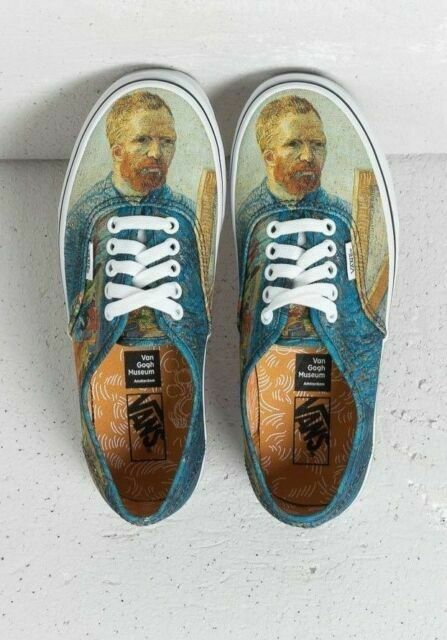 Authentic 27 5cm Us9 5 Vans Gogh Museum Van Authentic Self Portrait No 28230 For Sale Online Ebay