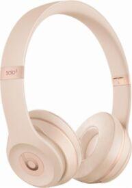 Apple Beats Solo3 On-Ear Wireless Headphones (Matte Gold)