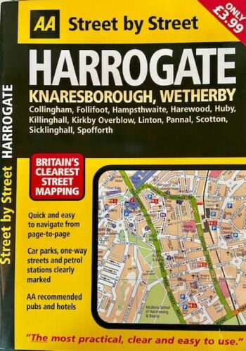 Harrogate Street by Street Atlas, by AA Publishing, England