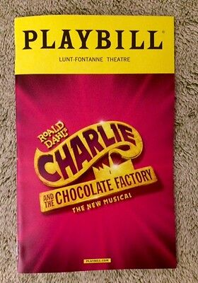 Charlie and the Chocolate Factory playbill -*With Flyers*- Free, quick shipping!