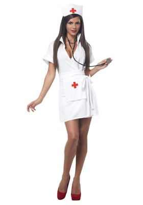 FASHION NURSE HALLOWEEN COSTUME for ADULT SEXY Ladies / Womens by CALIFORNIA - Nurse Costumes For Adults