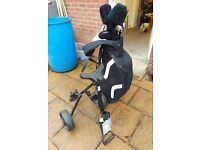 McGregor XP Gold Clubs. Full set with Bag and Trolley etc.