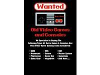 WANTED OLD RETRO VIDEO GAMES & CONSOLES SEGA / NINTENDO ETC