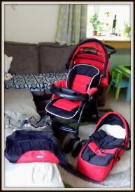Chicco Pushchair and Carry cot
