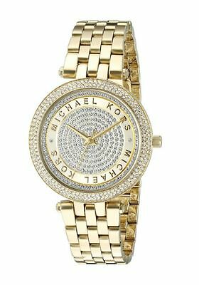 Michael Kors MK3445 Gold Tone Mini Darci Crystal Pave Dial Women Wrist Watch
