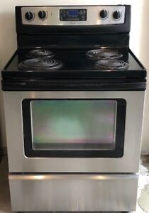 Stainless Steel Whirlpool Electric Range Oven