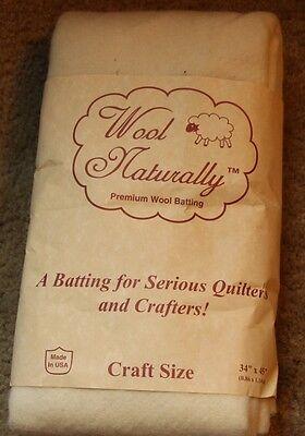 """Wool Naturally  Blend High Loft Batting, Craft Size 34"""" x 45"""""""