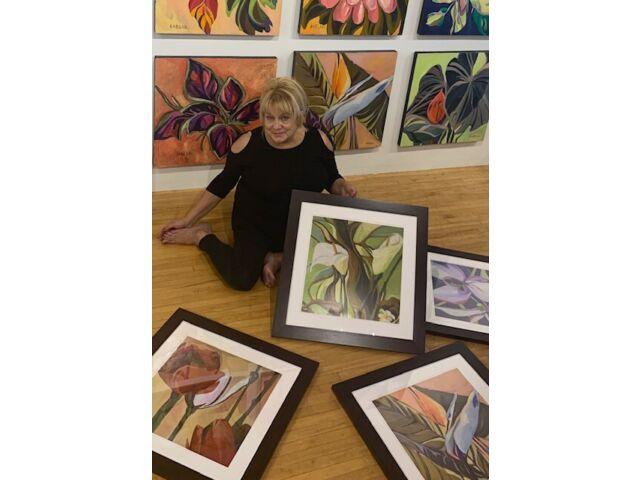 Spotted Yellow Orchids  Framed Print 24 x 24 artist SABLAK