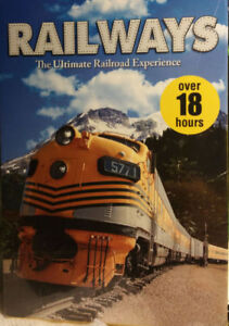 Railways: The Ultimate Railroad Experience 10-Disc Set) Like NEW