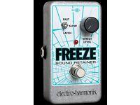 ElectroHarmonix Freeze Guitar Effects Sustain Pedal - New Boxed