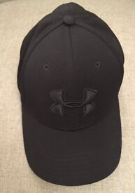 BRAND NEW NEVER WORN Under Armour Men's Blitzing Ii Curved Brim CAP (Black)