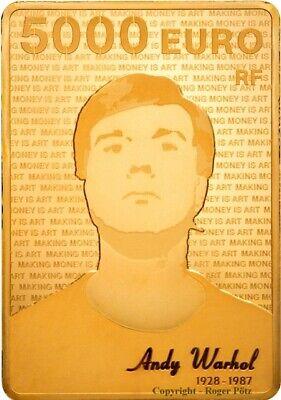 5000 Euro 2011 Andy Warhol 1 kg Gold PP nur 5 Exemplare weltweit - bitte lesen - gebraucht kaufen  Kreuztal