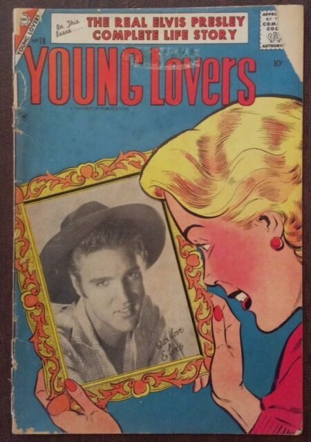 Elvis Presley Comic Book - Young Lovers, #18 - 1956 - Rare