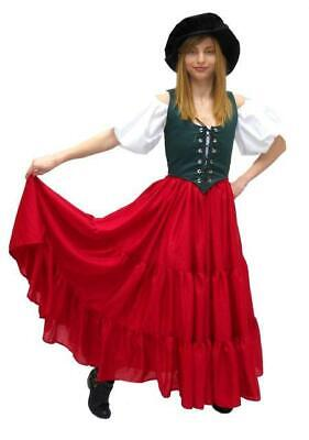 Gypsy Pirate Costume (RENAISSANCE MEDIEVAL DRESS-UP BELLY DANCE GYPSY PIRATE WENCH COSTUME SKIRT)