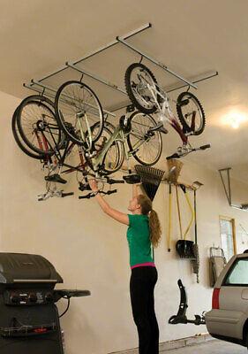 Saris Cycle-Glide Montaggio a Soffitto 4-Bike Conservazione Argento