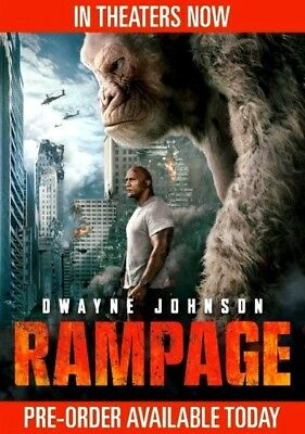 Rampage  (DVD,2018) NEW*Action, Adventure, S/Fiction* PRE-ORDER SHIPS ON 7/17/18