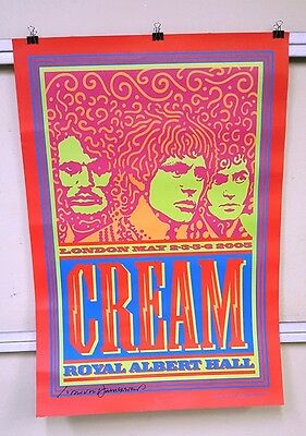 Cream Royal Albert Hall Art Print SIGNED by John Van Hamersveld