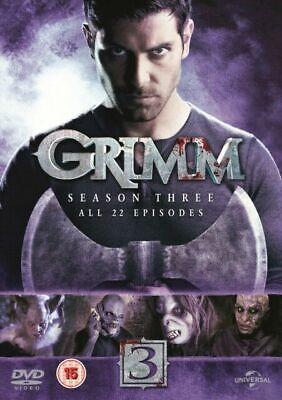 GRIMM - SEASON THREE (DVD-2014, 6 - Disc Box Set) Region 2,4. ALL 22 EPISODES*** - Halloween Episodes Tv Shows