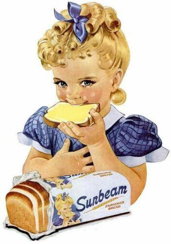Sunbeam Bread Girl Framed Mirror Sign