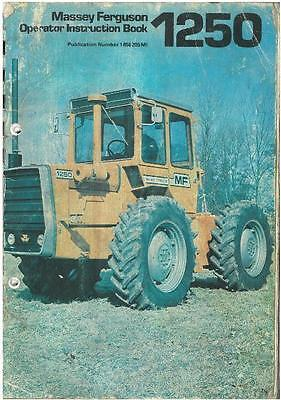 Massey Ferguson Tractor Mf1250 Operators Manual - Mf 1250