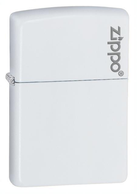 Zippo White Matte With Zippo Logo 214ZL *NEW*