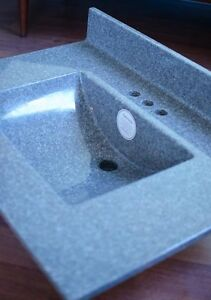 Wave Granite Centre Basin Vanity Top