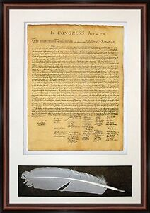 DECLARATION-of-INDEPENDANCE-Historical-Document-Framed