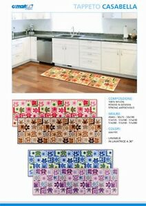 Tappeto cucina stuoia passatoia antiscivolo 180 x 60 colori assortiti ebay - Passatoia cucina antiscivolo ...