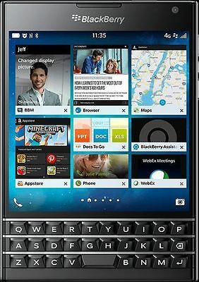 Blackberry Passport SQW100-1 Worldwide GSM Unlocked 32GB Qwerty 4G Black
