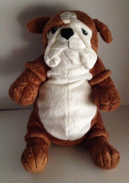 "Ikea Klappar Gosig ENGLISH BULLDOG 18"" Puppy Dog Squishy Soft Plush Stuffed"