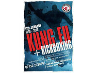 Get fit, tone up while learning to defend yourself with martial arts. Kung Fu and Kickboxing.