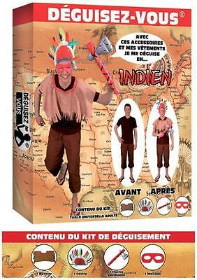 Cheap Western Costumes (Costume Man Kit INDIAN Suit Adult Western Cinema NEW)
