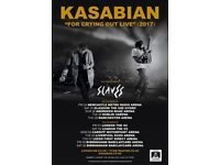 Two Standing Tickets for Kasabian 26th November at AECC - LESS THAN FACE VALUE