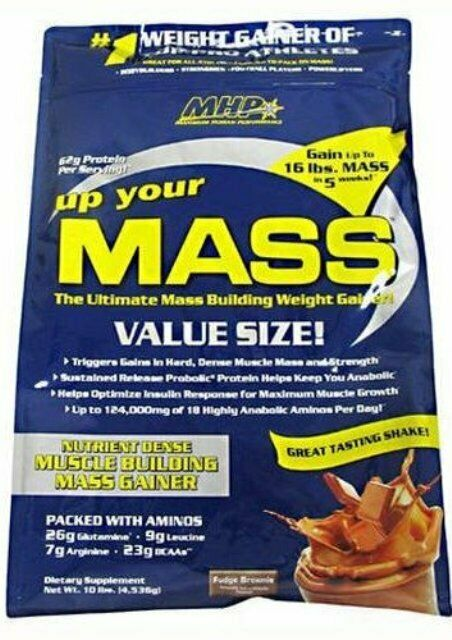 MHP Up Your Mass Weight Gainer 10 lbs Mass Gainer Build Musc