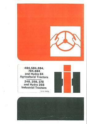 International Tractor 484 584 684 784 884 84 Operators Manual