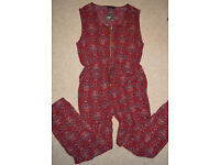 New Summer Long Jumpsuit Casual Sleeveless Flower Print for womens Sexy size 18