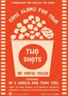 Two Shots Movie Night Newcastle 2300 Newcastle Area Preview