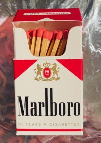 Vintage Marlboro Wood Matches Flip Top Box NEW IN BOX   ONE BOX   10% OFF 2