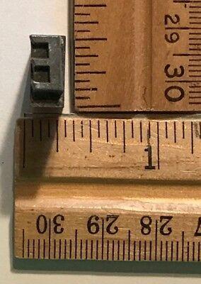 Vintage Antique Metal Printer Printing Press Block Alphabet Letter E 7879