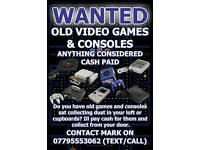 Wanted Retro Games and Consoles
