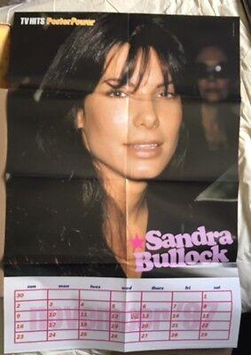 SANDRA BULLOCK Original Vintage TV Hits Magazine Poster